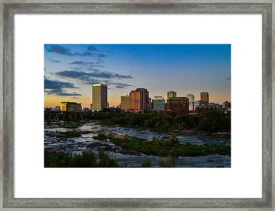 Richmond Skyline At Dusk Framed Print