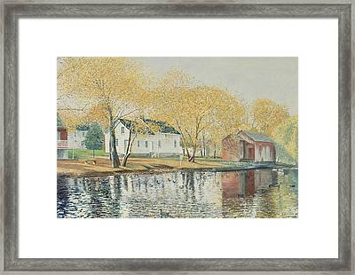 Richmondtown Pond Framed Print by Anthony Butera