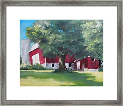 Rich's Barn Framed Print