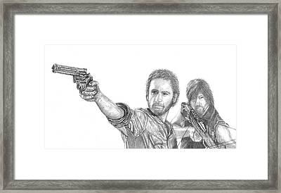 Rick And Daryl Framed Print by Jennifer Campbell Brewer