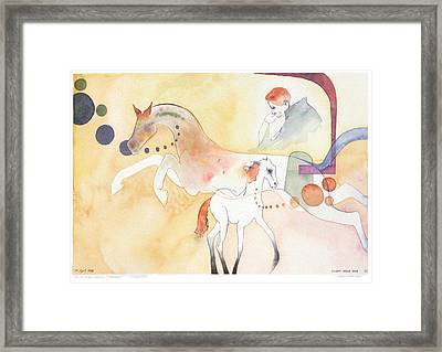 Rick And Rocket Framed Print by Eileen Hale