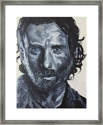 Rick Grimes Framed Print by Charles Michael