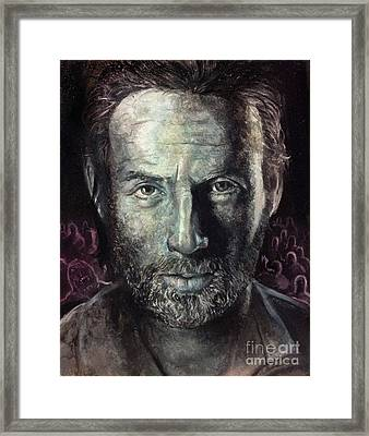 Rick Grimes Framed Print by Michael Parsons