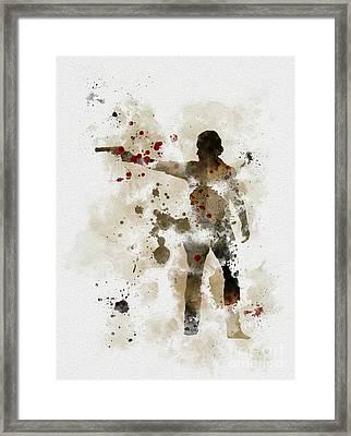 Rick Grimes  Framed Print by Rebecca Jenkins