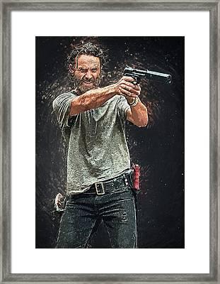 Rick Grimes Framed Print