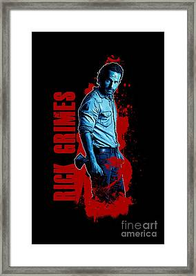 Rick Grimes The Walking Dead Back To Being A Comicbook Character Framed Print