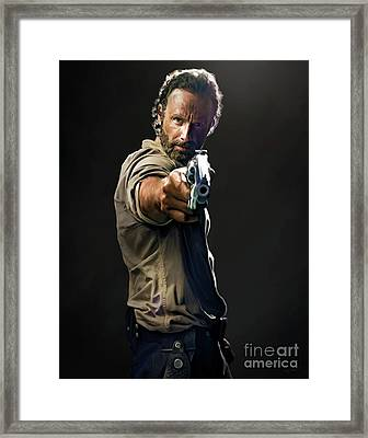 Rick Grimes  Framed Print by Paul Tagliamonte