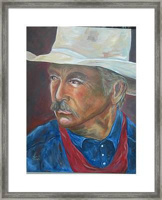 Rick Framed Print by Judie Giglio