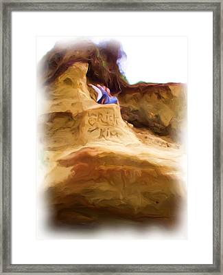 Framed Print featuring the painting Rick Loves Kim by Shelley Bain
