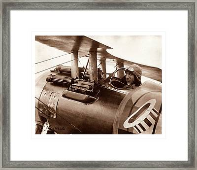 Rickenbacker And His Spad Xiii 1918 Framed Print