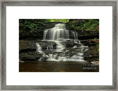 Ricketts Glen Onondaga Falls Framed Print by Adam Jewell