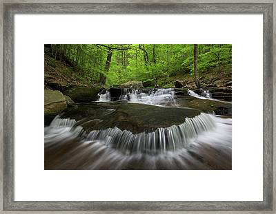 Ricketts Glen State Park Pennsylvania Framed Print by Mark VanDyke