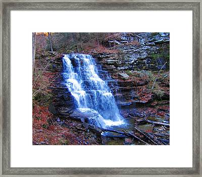 Ricketts Glen Waterfall 3941  Framed Print