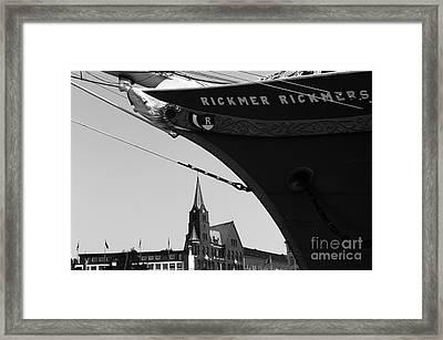 Rickmer Rickmers Mono Framed Print