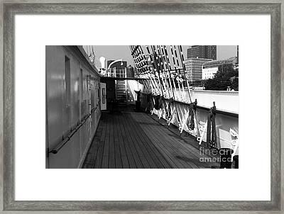 Rickmer's Deck Mono Framed Print