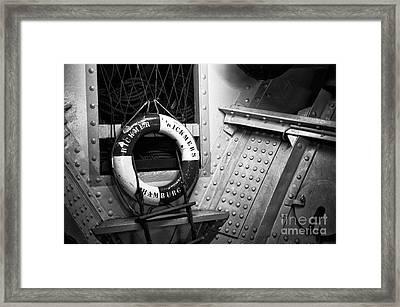 Rickmers Hamburg Mono Framed Print by John Rizzuto