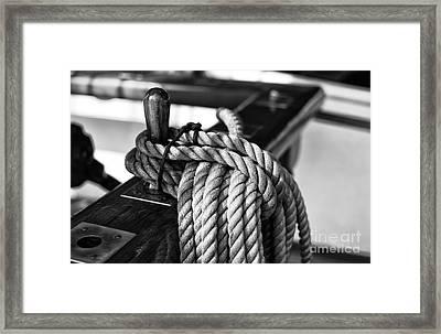 Rickmers Rope Mono Framed Print