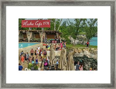 Rick's Cafe In Negril, Jamaica Framed Print
