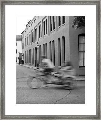 Rickshaw Speed Framed Print by Dustin K Ryan