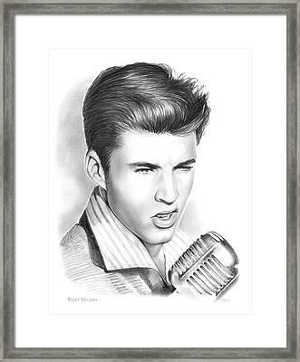 Ricky Nelson Framed Print by Greg Joens