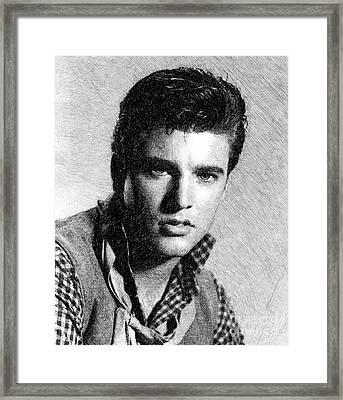 Ricky Nelson, Music Legend By Js Framed Print
