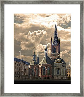 Framed Print featuring the photograph Riddarholm Church - Stockholm by Jeff Burgess