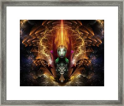 Riddian Queen Of Cosmic Fire Framed Print
