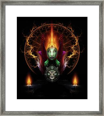 Riddian Queen Of Fire Framed Print