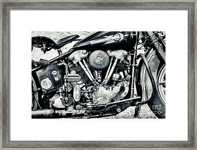 Ride A Knuck Framed Print by Tim Gainey
