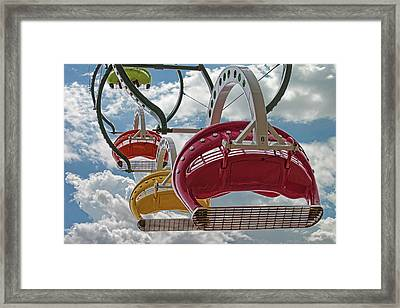 Ride Against The Sky Framed Print by John Haldane