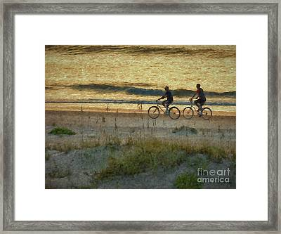 Ride At Dawn Framed Print by Dave Bosse