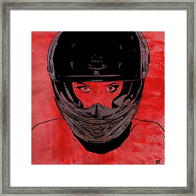 Framed Print featuring the drawing Ride by Giuseppe Cristiano