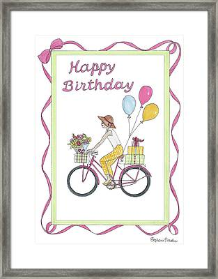 Ride In Style - Happy Birthday Framed Print