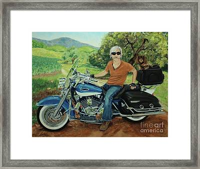 Ride In The Birksire's Framed Print