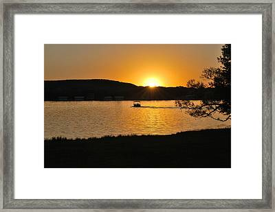 Ride Into The Sunset Framed Print by Teresa Blanton