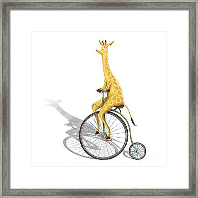Ride My Bike Framed Print