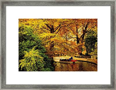 Ride On The Boat Framed Print by Iris Greenwell