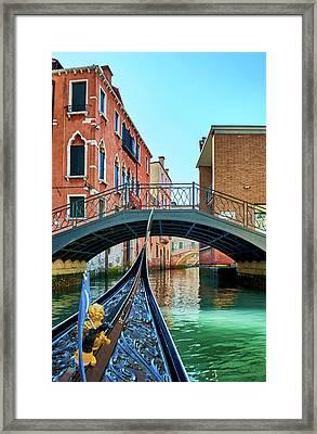 Ride On Venetian Roads Framed Print
