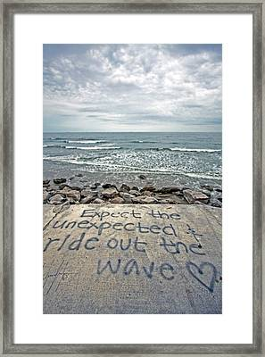 Ride Out The Wave Framed Print by Ty Helbach