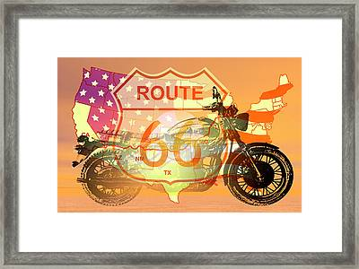 Ride Route 66 Framed Print by Carol and Mike Werner