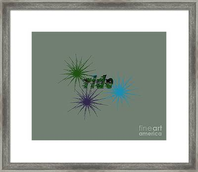 Ride Text And Art Framed Print