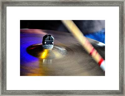 Ride The Cymbal Framed Print