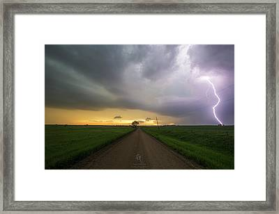 Ride The Lightning 2016 Framed Print by Aaron J Groen