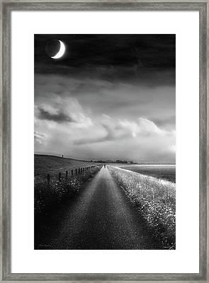 Ride The Moonlight Framed Print