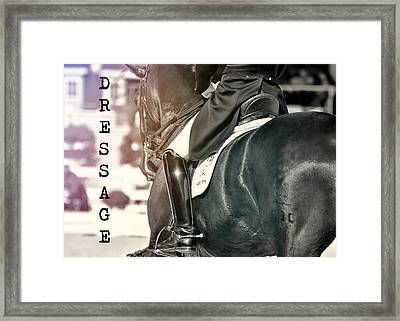 Ride The Rhythm Quote Framed Print by JAMART Photography