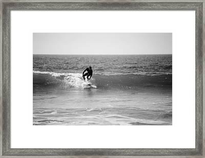 Ride The Surf Framed Print by Bransen Devey