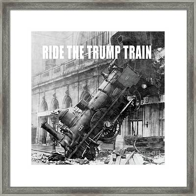 Ride The Trump Train Framed Print