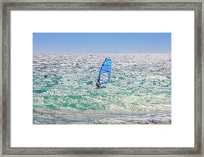 Framed Print featuring the photograph Ride The Waves, Scarborough Beach by Dave Catley