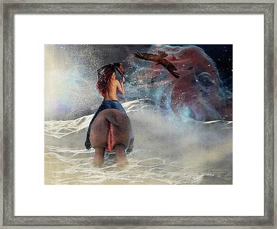 Ride The Wild Side Framed Print by Terry Fleckney