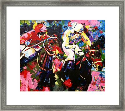Ride To Glory Framed Print